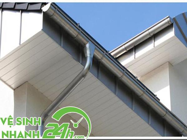 Thiết kế đường ống thoát nước mưa cho nhà mái bằng