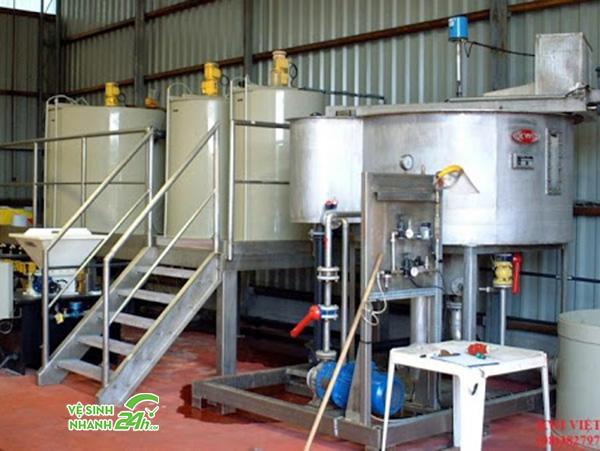 Hệ thống pha trộn hóa chất keo tụ