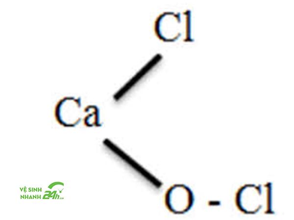 Công thức cấu tạo Clorua vôi