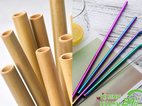 Ống hút tre và ống hút inox góp phần bảo vệ môi trường
